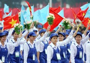 Serikat Buruh di Vietnam merayakan Bulan Buruh.