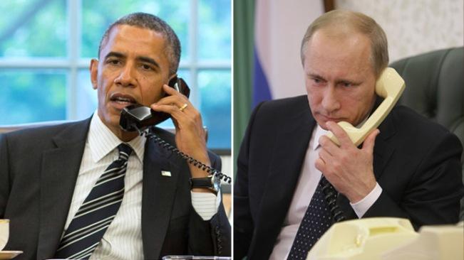 Presiden AS Barack Obama dan Presiden Rusia Vladimir Putin (Reuters / RIA Novosti)