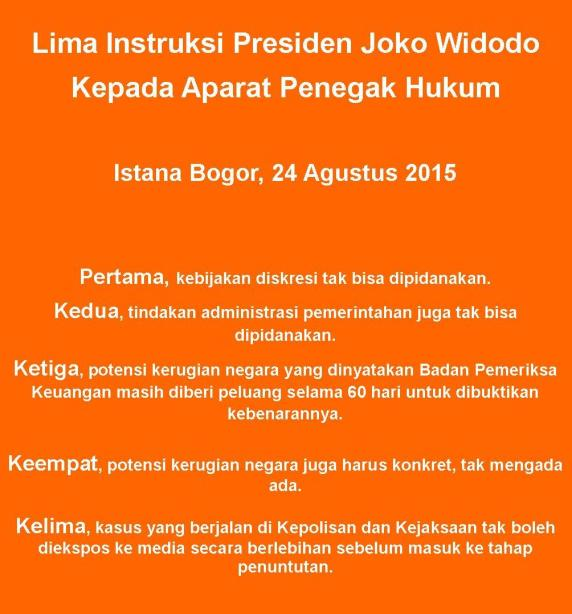 dk-75c-5 instruksi Jokowi 25-8-2015